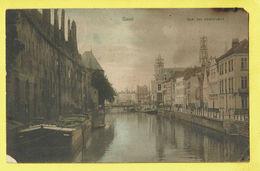 * Gent - Gand (Oost Vlaanderen) * (Nels, Série Gand, Nr 25) Quai Des Dominicains, Canal, Quai, Bateau, Péniche, TOP - Gent