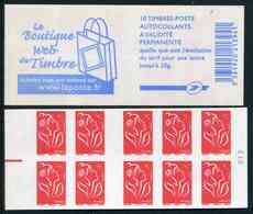 """Carnet De 2006 De 10 Timbres Type """"Lamouche"""" Avec Couvert. Blanche """"La Boutique Web Du Timbre"""" - Avec REP ELEC Rouge - Usage Courant"""