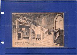 ##(ANT11)- 1911-Cartolina Pubblicitaria Del Prestito A Premi Della Repubblica Di San Marino-sul Fronte Atrio Del Palazzo - Saint-Marin