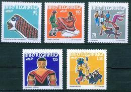 BRAZIL #1234-38  - FOLKLORE NATIONAL - FOLK FESTIVAL - FESTIVITIES  -  5 Stamps  1972  -  MNH - Unused Stamps