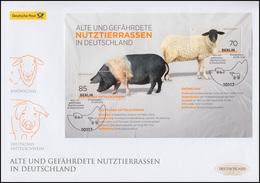 Blck 81 Nutztierrassen: Schwein Und Schaf, Schmuck-FDC Deutschland Exklusiv - BRD