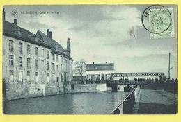 * Menen - Menin * (SBP, Nr 10) Quai De La Lys, Kade Van De Leie, Pont, Bridge, Animée, Bateau, Timbre, TOP, Unique - Menen