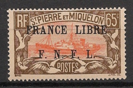 SPM - 1941 - N°Yv. 240 - 65c - France Libre-  Neuf Luxe ** / MNH / Postfrisch - St.Pierre Et Miquelon