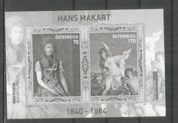 AUSTRIA BLACK PRINT IMPERFORATE WIEN MUSEUM ARTE PINTURA HANS MAKART - Arte