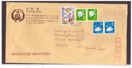 117   -   GIAPPONE  STORIA POSTALE  TOKYO  26.11.1992     /    AIR MAIL LETTER TO HAMBURG - 1989-... Imperatore Akihito (Periodo Heisei)