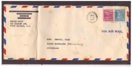 150   -   U.S.A.  STORIA POSTALE  PATERSON 28.6.1946    /    AIR MAIL LETTER TO SWITZERLAND - Stati Uniti