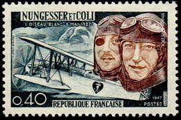 France N° 1523 ** Nungessser Et Coli Et L'avion L'Oiseau Blanc - France