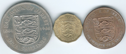Jersey - Elizabeth II - 1966 - Battle Of Hastings - 1/12 Shilling - KM26; 1 Fourth Shilling (KM27) 5 Shillings (KM28) - Jersey