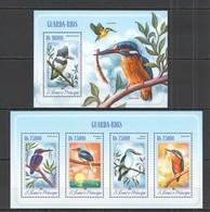 QQ364 2014 S. TOME E PRINCIPE FAUNA BIRDS GUARD-RIVERS GUARDO-RIOS KB+BL MNH - Birds