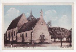 89  CHAMPCEVRAIS   L'église Et La Place - France