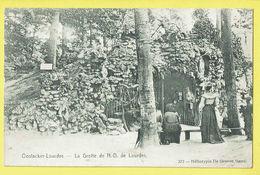 * Oostakker - Oostacker (Gent - Gand) *  (Héliotypie De Graeve, Nr 372) Grotte De ND De Lourdes, Animée, Rare - Gent