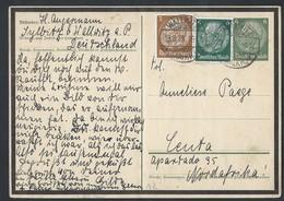 44de.Postkarte (Hindenburg). Post 1935. Wallwitz (Deutschland) Nordafrika?. Deutsches Reich - Allemagne