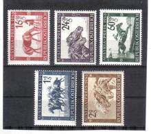 BAU264 ÖSTERREICH 1946 MICHL 785/89 ** Postfrisch SIEHE ABBILDUNG - 1945-60 Neufs