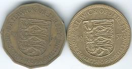 Jersey - Elizabeth II - 1 Fourth Of A Shilling - 1957 (KM22) & 1964 (KM25) - Jersey