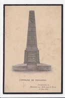 CPA 69 VERNAISON Inauguration Du Monument Aux Morts - Autres Communes