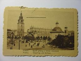 CPA POLOGNE POLSKA - CRACOVIE KRAKOW RYNEK GLOWNY Z WIEZQ RATUSZOWQ - SZUTKA N°13 - 1918 - Vierge - Pologne