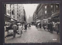 CPSM 75 - PARIS - 18ème - Rue Du Poteau Et Mairie Du 18 ème Arr. - SUPERBE PLAN ANIMATION MAGASINS AUTOMOBILES - Arrondissement: 18