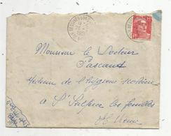 Lettre, 1951 , BESSINE SUR GARTEMPE , HAUTE VIENNE , 2 Scans - Marcophilie (Lettres)