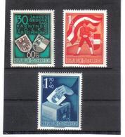BAU266 ÖSTERREICH 1950 MICHL 952/54 ** Postfrisch SIEHE ABBILDUNG - 1945-60 Neufs