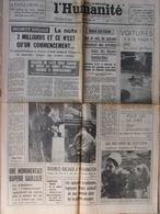 Journal L'Humanité (2 Août 1967) Concorde - Nord Vietnam - Troubles Raciaux US - Israël - Zeitungen