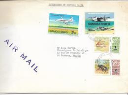 SAMOA I SISIFO - GOVERNMENT OF WESTERN SAMOA- Lettre AIR MAIL-NUMISMATIC SECTION Pour La FRANCE - Samoa