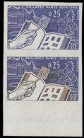 FRANCE Essais  1403 Paire D'essais En Bleu + Polychrome, Bdf: Philatec, Cheval - Proofs
