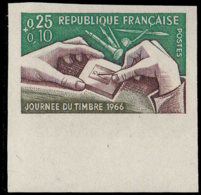 FRANCE Essais  1477 Essai En Polychrome, Bdf: Journée Du Timbre 1966, La Gravure - Prove