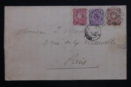 ALLEMAGNE - Lettre De Logelbach Pour Paris En 1888 , Affranchissement Plaisant - L 23440 - Covers & Documents