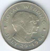 Jersey - 1981 - 2 Pounds - Prince Charles & Diana Wedding - KM52 - Jersey