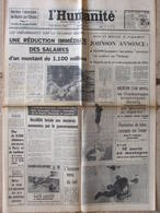 Journal L'Humanité (4 Août 1967) Absorption Berliet - Aberfan - Maria Latour - Zeitungen