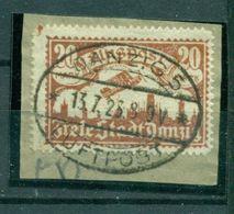 Danzig Flugpost, Nr. 118 Briefstück Geprüft Infla - Danzig