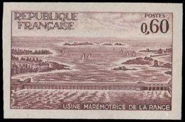 FRANCE Essais  1507 Essai En Brun: Usine électiruqe Marémotrice De La Rance - Ensayos