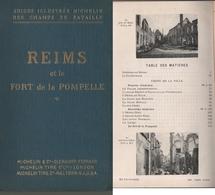 1914-18 Batailles De Reims Et Fort De La Pompelle. Guide Illustré Michelin Des Champs De Bataille. (5 Scannes) - 1914-18