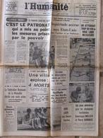 Journal L'Humanité (5 Août 1967) APatronat - Annonces Décisions Militaires Vietnam - Zeitungen