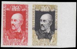 FRANCE Essais  1590 Paire D'essais En Orange + Un Bicolore, Bdf: Albert Roussel, Musicien, Violon, Trombonne - Essais