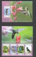 QQ476 2014 S. TOME E PRINCIPE FAUNA BIRDS COLIBRI KB+BL MNH - Oiseaux