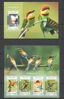 QQ480 2014 S. TOME E PRINCIPE FAUNA BIRDS ABELHARUCOS KB+BL MNH - Birds