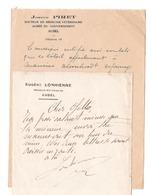 Médecine Vétérinaire EUGENE LONHIENNE & JOSEPH PIRET  AUBEL  Réunion De 2 Documents - Belgium