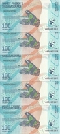 MADAGASCAR 100 ARIARY ND2017 UNC P 97 ( 5 Billets ) - Madagascar