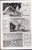 1963 Groeten Uit Rockanje Met Molen En Strand Z/w Gelopen Naar Maasdam - Nederland