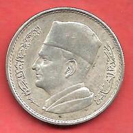 1 Dirham , MAROC , Argent , AH 1380 , 1960 , Y # 55 - Maroc