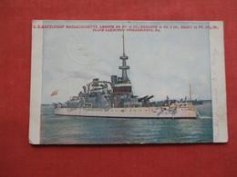 US Battleship Massachusetts        Ref 3174 - Warships