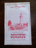 Oude Reclame 1949  LA  Frégate   Agence Belge  RENAULT - Voitures