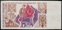 FRANCE Essais  1740 Essai En Polychrome: Immigration Polonaise - Ensayos