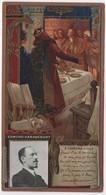Chromo Gaufrée Dorure LEFEVRE UTILE LU  Edmond HARAUCOUT Le Roi Robert - Lu