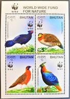 #Bhutan 2003** Mi.2421-24 Birds WWF, MNH [26;58] - Birds