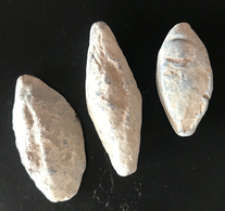 3 BALLES DE FRONDE EN PLOMB EPOQUE ROMAINE - Archéologie