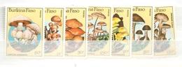 Burkina Faso Mushroom Set Mnh ** Champignons 1985 Cat 12 Euros For 15% Only - Burkina Faso (1984-...)