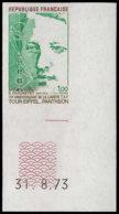 FRANCE Essais  1770 Essai En Poychrome, Cdf Numéroté: Ducretet, Liaison Tsf Tour Eiffel Et Panthéon - Probedrucke