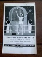 Dubbelzijdige Oude Reclame 1948   COM .  MARI .. BELGE  -------- En  MERCEDES -- BENZ - Bateaux